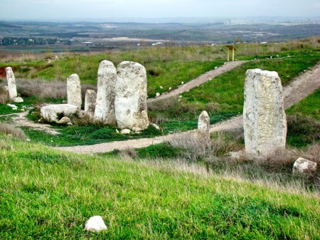 Standing Stones at High Place at Gezer. Photo by Leon Mauldin