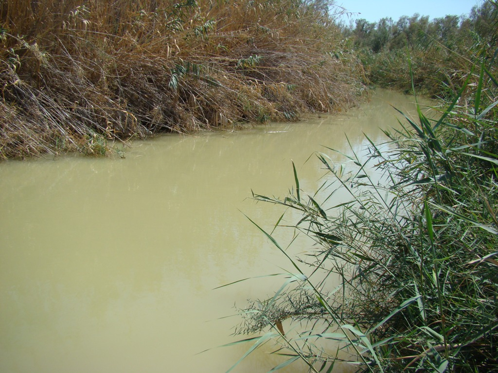 Jordan River at Qasr alYahud, newly opened baptismal site. Photo by