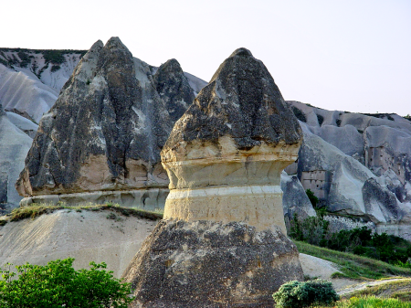 Formations characteristic of Cappadocia. Photo by Leon Mauldin.