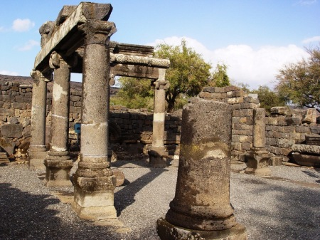 Basalt synagogue at Capernaum. Photo by Leon Mauldin.