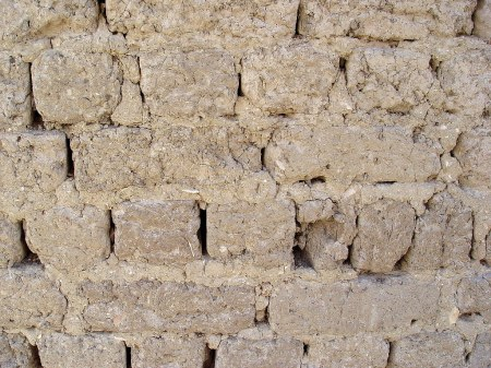 Bricks made of mud mixed with straw in Luxor, Egypt. Photo by Leon Mauldin.