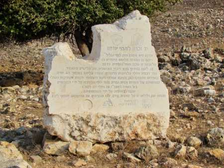 Onsite Memorial to Defenders of Yodfat. Photo by Leon Mauldin.