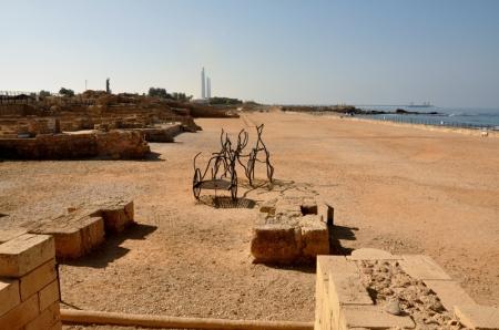 Hippodrome at Caesarea. Photo by Leon Mauldin.