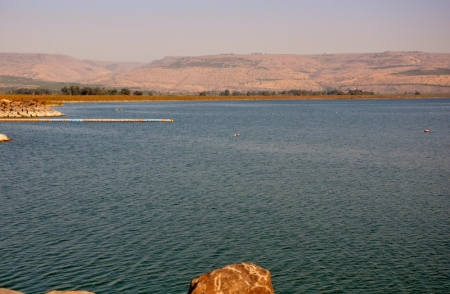 Northern Sea of Galilee looking east. Photo by Leon Mauldin.