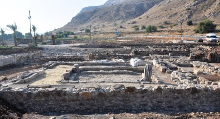 1st century Synagogue at Magdala. Photo by Leon Mauldin.