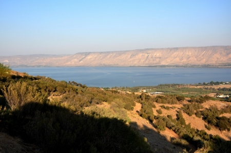 Sea of Galilee from Sea Level. Photo by Leon Mauldin.