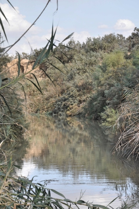 Jordan River at  Qasr el-Yahud. Photo by Leon Mauldin.