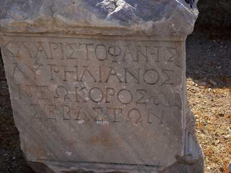 Smyrna Inscription, designating it neokoros. Photo by Leon Mauldin.
