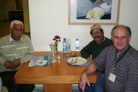 At Natana, Israel. Fawzi, driver at left, and Elie, center. Photo ©Leon Mauldin.