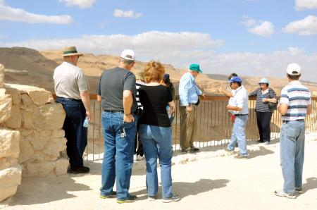 Elie instructing our group at Masada. Photo ©Leon Mauldin.