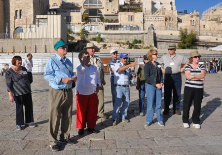 Elie instructing our group as we neared Wailing Wall. Photo by Gary Kerr, ©Leon Mauldin.
