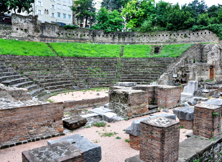 Roman Theater at Trieste, Italy. Photo by Leon Mauldin.