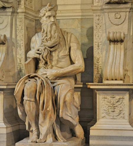 Michelangelo's Moses, 1513-1515. In Rome. Photo ©Leon Mauldin.