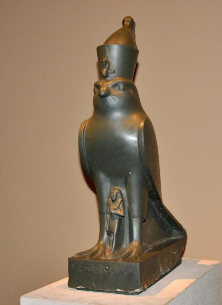Egyptian god Horus. Metropolitan Museum. Photo by Leon Mauldin.