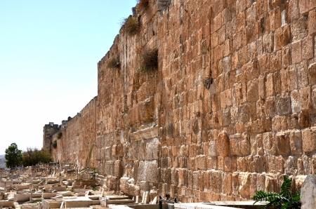 Jerusalem's Eastern Wall. Photo by Leon Mauldin.