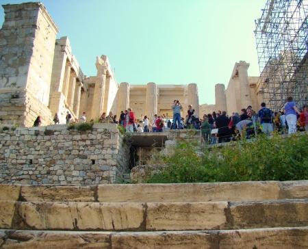 Propylaea leading to Athens Acropolis. Photo by Leon Mauldin.