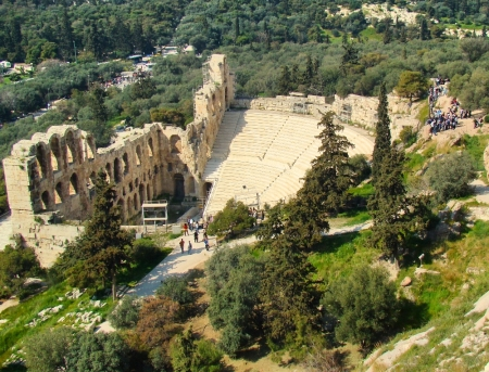 Odeum of Herodes Atticus. Athens, Greece. Photo by Leon Mauldin.