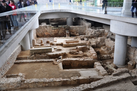 Excavations at Entrance to Acropolis Museum. Photo by Leon Mauldin.