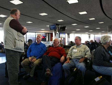Gathering at Newark International. Photo by Donna Keith.
