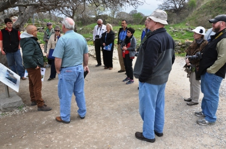 Our guide Orhan instructing group regarding ancient Troy. Photo by Leon Mauldin.