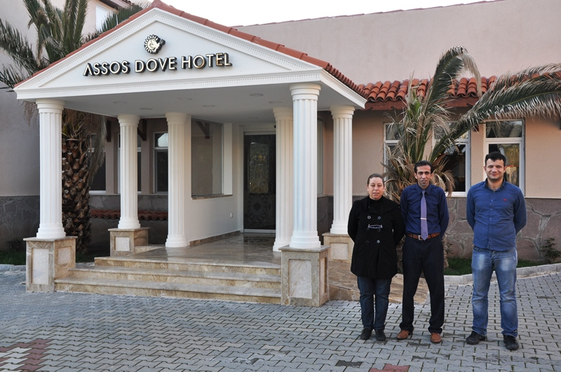 Staff at Assos Dove Hotel. Photo by Leon Mauldın.