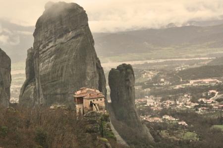 Roussanou Monastery at Mereora, Greece. Photo by Leon Mauldin.