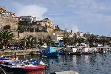 Neapolis Harbor. The site mentioned in Paul's travels in Acts 16:11. Photo by Leon Mauldin.