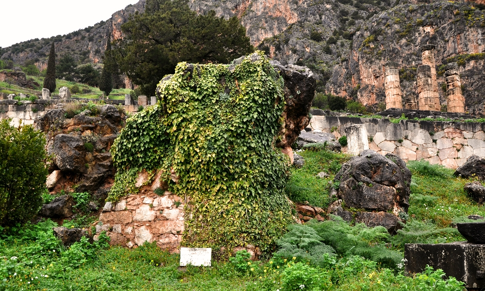 Temple of Cybele at center.  In behind you can see ruins of temple of Apollo. Photo ©Leon Mauldin.