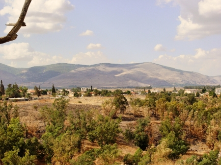 Gilboa as seen from Beth Shan. Photo by Leon Mauldin.