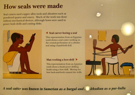 How Seals Were Made. Oriental Museum Chicago. Photo by Leon Mauldin.