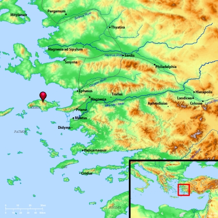 Location of Samos. Map by BibleAtlas.Org.