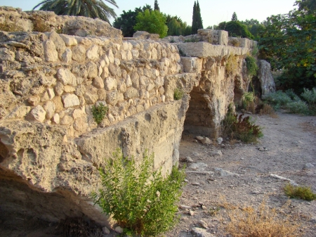 Roman Aqueduct at Beit Hananya, north of Caesarea. Photo by Leon Mauldin.