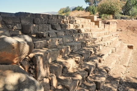 Steps leading up to the platform where the golden calf was enshrined. Photo by Leon Mauldin.