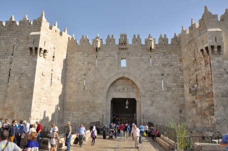 Damascus Gate Jerusalem. North entrance. Photo by Leon Mauldin.