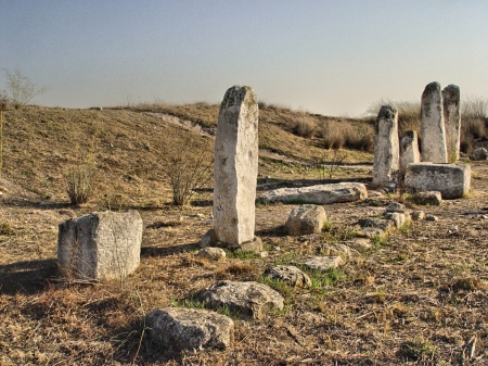 Standing Stones at Gezer. Photo by Leon Mauldin.