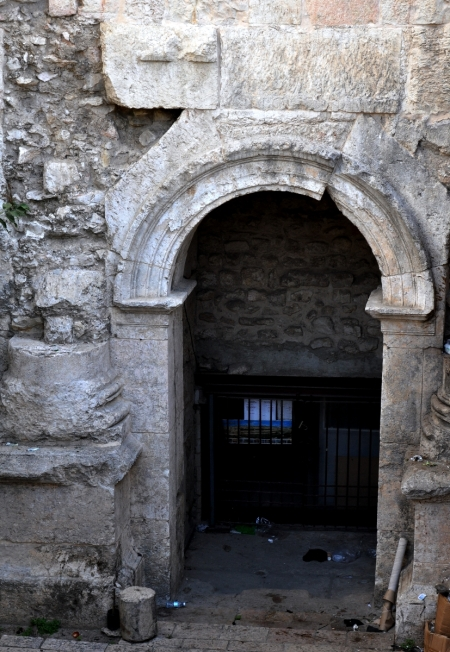 Hadrian Gate, eastern arch. ca. AD 135. North wall, Jerusalem. Photo by Leon Mauldin.
