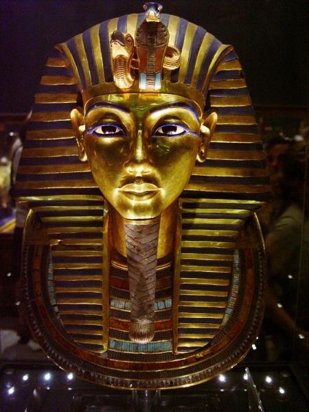 King Tut's Funerary Mask. Egyptian Museum. Photo by Leon Mauldin.