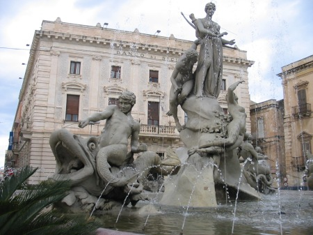 At Syracuse, Fountain of Diana, goddess of the hunt. Photo supplied by Greg Picogna.