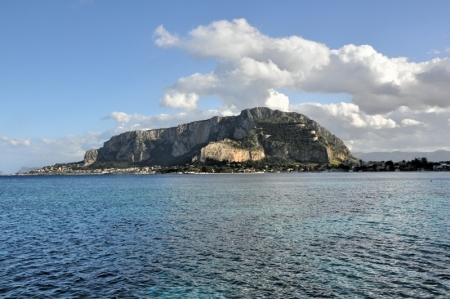 Looking out from Mondello Beach, Sicily. Photo by Leon Mauldin.