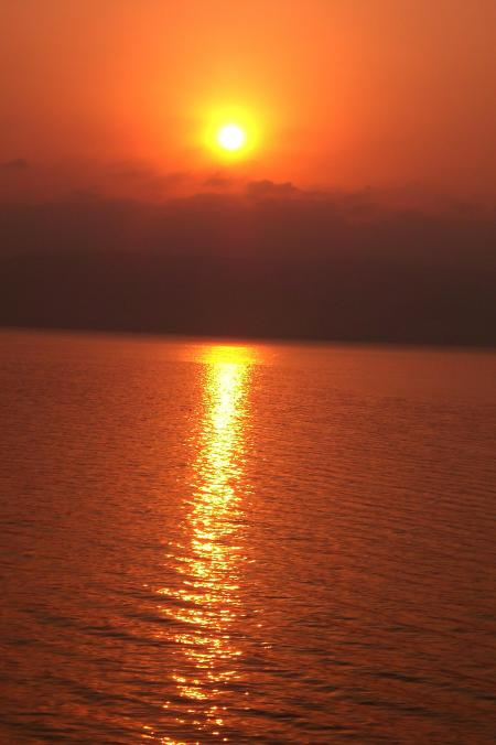 Sunrise at Sea of Galilee, Sept. 2011. Photo by Leon Mauldin.