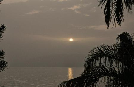Sunrise at Sea of Galilee April 10, 2016. Photo by Leon Mauldin.