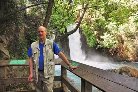 Banias Falls near Caesarea Philippi. One of the major sources of the Jordan River.