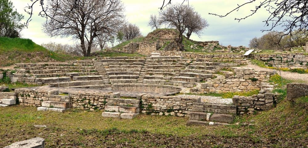 Roman Odeion at Troy, Turkey. Photo by Leon Mauldin.