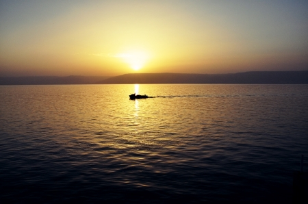 Sunrise at the Sea of Galilee. Photo ©Leon Mauldin.