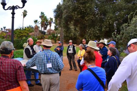 Leon teaching on the significance of the new excavations at Joppa gate. Photo by David Deason.