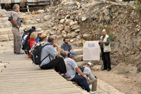 At the pool of Siloam, where the blind man received his sight (John 9). Photo by Zachary Shavin.