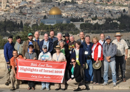 Group Photo Mt. of Olives. Photo ©Leon Mauldin.