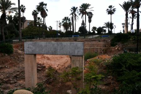 Newly Excavated gate at Joppa, Israel. Photo by Leon Mauldin..