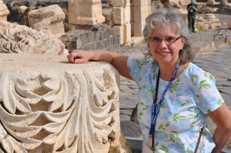 Lynn at Beth-shean. Photo ©Leon Mauldin.