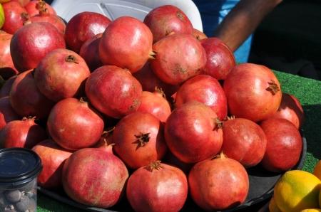 Pomegranates at Caesarea. Photo by Leon Mauldin.